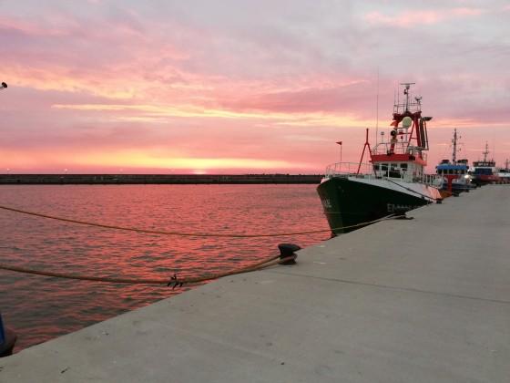 Sonnenuntergang im Hafen von Sassnitz